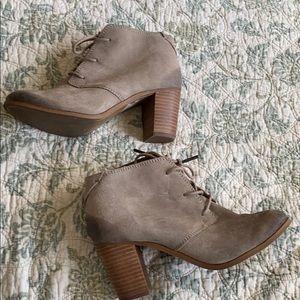 TOMS heeled booties - work twice